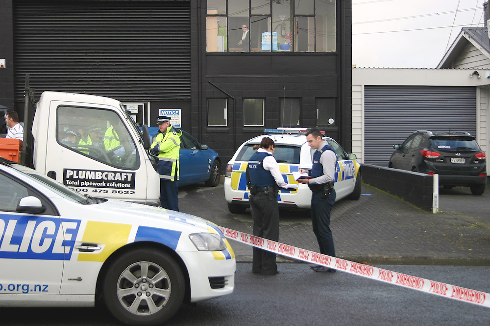 Counties Manukau Police are investigating the death of a man in an incident at an address in Conifer Grove Auckland, New Zealand, Wednesday, September 23, 2015. Credit:SNPA / Grahame Clark
