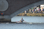 Boston, USA, Championship men's Single  NZL M1X Mahe DRYSDALE, Head of the Charles, Race Charles River,  Cambridge,  Massachusetts. Saturday  20/10/2007 [Mandatory Credit Peter Spurrier/Intersport Images]..... , Rowing Course; Charles River. Boston. USA