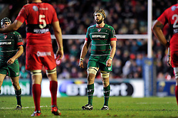 Geoff Parling of Leicester Tigers - Photo mandatory by-line: Patrick Khachfe/JMP - Mobile: 07966 386802 07/12/2014 - SPORT - RUGBY UNION - Leicester - Welford Road - Leicester Tigers v Toulon - European Rugby Champions Cup