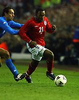 Fotball. Treningskamp. Landskamp.<br /> England v Italia, Elland Road, 27.03.2002.<br /> Darius Vassell, England og Aston Villa.<br /> Foto: Robin Parker, Digitalsport