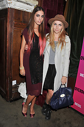 Left to right, AMBER LE BON and BECKY TONG at a party tocelebrate the launch of Diesel's new female fragrance 'Loverdose' held at The Box, 11-12 Walkers Court, Brewer Street, London on 7th September 2011.