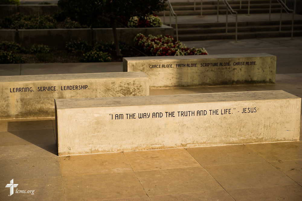 A photograph of the entranceway at Concordia University Irvine on Wednesday, July 9, 2014, in Irvine, Calif. LCMS Communications/Erik M. Lunsford