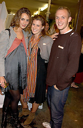 Left to right, ALEXIA NIEDZIELSKI, FRANCESCA VERSACE and ALEXANDER FLICK at an opening party for artist Paul McCarthy's exhibition 'LaLa Land Parody Paradise' held at the Whitechapel Gallery, 80-82 Whitechapel High Street, London E1 on 22nd October 2005.<br />