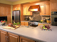 A warm interior kitchen scene shot for Masco products.in the Lifestages Home...Cannot License