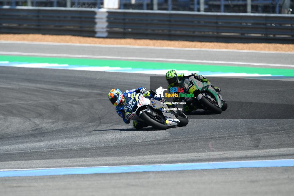BURIRAM, THAILAND - OCTOBER 06: Xavier Simeon (10) of Belgium and Reale Avintia Racing in Turn 12 during FP3 at the MotoGP PTT Thailand Grand Prix 2018, Chang International Circuit, Buriram, Thailand on October 06, 2018. <br /> .<br /> .<br /> .<br /> (Photo by: Naratip Golf Srisupab/SEALs Sports Images)<br /> .<br /> Any image use must include a mandatory credit line adjacent to the content which should read: Naratip Golf Srisupab/SEALs Sports Images
