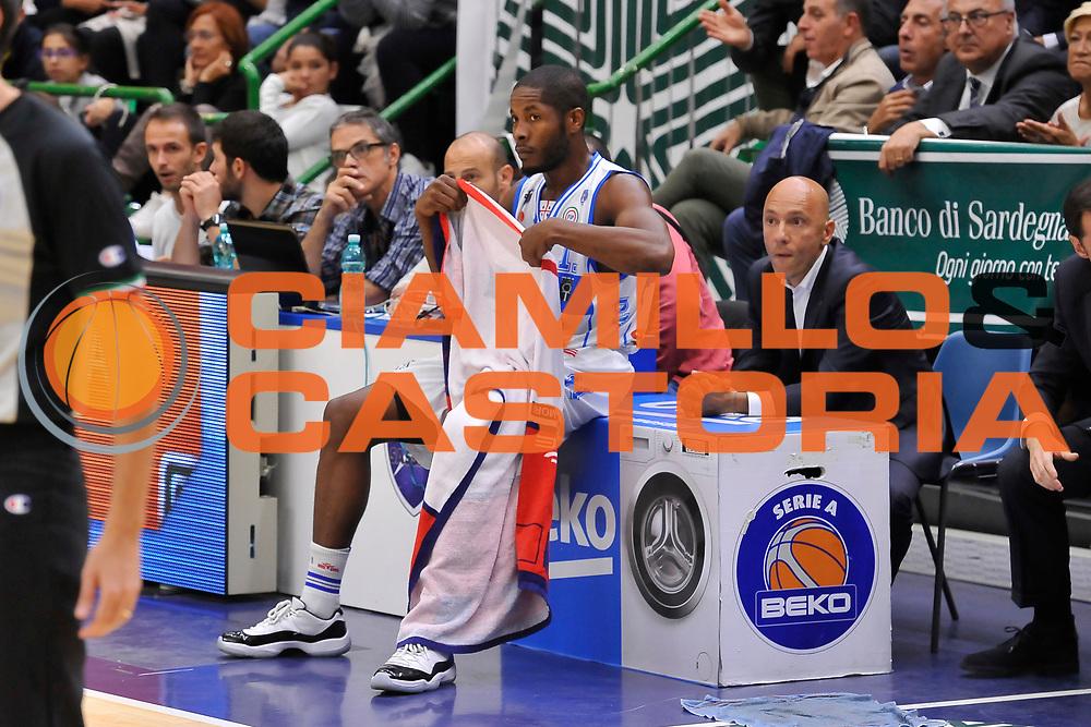 DESCRIZIONE : Campionato 2014/15 Dinamo Banco di Sardegna Sassari - Enel Brindisi<br /> GIOCATORE : Jerome Dyson Stefano Sardara<br /> CATEGORIA : Sostituzione Cambio<br /> SQUADRA : Dinamo Banco di Sardegna Sassari<br /> EVENTO : LegaBasket Serie A Beko 2014/2015<br /> GARA : Dinamo Banco di Sardegna Sassari - Enel Brindisi<br /> DATA : 27/10/2014<br /> SPORT : Pallacanestro <br /> AUTORE : Agenzia Ciamillo-Castoria / Luigi Canu<br /> Galleria : LegaBasket Serie A Beko 2014/2015<br /> Fotonotizia : Campionato 2014/15 Dinamo Banco di Sardegna Sassari - Enel Brindisi<br /> Predefinita :