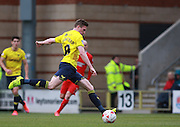 Oxford midfielder John Lundstram strikes from distance to score Oxford's second goal during the Sky Bet League 2 match between Leyton Orient and Oxford United at the Matchroom Stadium, London, England on 17 October 2015. Photo by Bennett Dean.