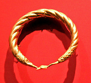 Roman Period. Spirally twisted tubular armlet with one duck-head terminal preserved    A.D. 2nd–3rd century. Egypt, Memphis