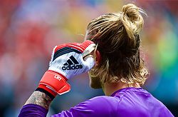 CHARLOTTE, USA - Sunday, July 22, 2018: Liverpool's goalkeeper Loris Karius during the pre-match warm-up before a preseason International Champions Cup match between Borussia Dortmund and Liverpool FC at the  Bank of America Stadium. (Pic by David Rawcliffe/Propaganda)