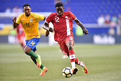 July 7, 2017 - Harrison, New Jersey, U.S - Canada midfielder ALPHONSO DAVIES (12) in action during CONCACAF Gold Cup 2017 at Red Bull Arena in Harrison New Jersey Canada defeats French Guiana 4 to 2. (Credit Image: © Brooks Von Arx via ZUMA Wire)