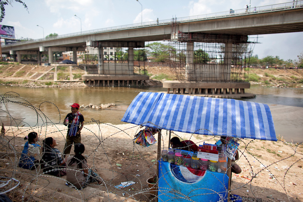 at the Friendship Bridge at the Thailand-Myanmar border checkpoint  in Mae Sot, Thailand, Tuesday, Feb. 21, 2012.