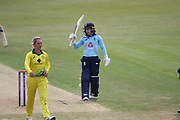 during the Royal London Women's One Day International match between England Women Cricket and Australia at the Fischer County Ground, Grace Road, Leicester, United Kingdom on 4 July 2019.
