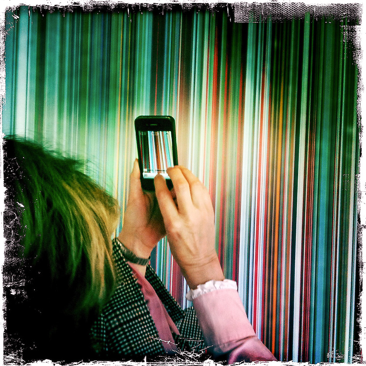 Germany - BERLIN - iPhone Hipstamatic DIARY; HERE: Gerhard RICHTER Exhibition: PANORAMA; Neue Nationalgalerie; Berlin-Tiergarten; 20.04.2012 © Christian Jungeblodt