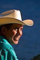 Mexican man wearing cowboy hat, San Miguel de Allende, Mexico