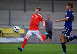 NEWPORT, WALES - Sunday, September 24, 2017: Wales' Iestyn Hughes during an Under-16 International friendly match between Wales and Gibraltar at the Newport Stadium. (Pic by David Rawcliffe/Propaganda)