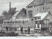 Fairlie's Steam Carriage.  Light railway steam locomotive for use on branch lines. 1869
