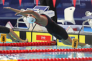 Katinka Hosszu (Hungary) In the second half Final of the 100 m Back during the Swimming European Championships Glasgow 2018, at Tollcross International Swimming Centre, in Glasgow, Great Britain, Day 5, on August 6, 2018 - Photo Laurent Lairys / ProSportsImages / DPPI