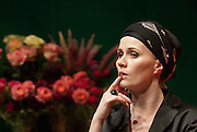 Imola Kezdi as Hedda in 	 Henrik Ibsen: Hedda Gabler directed by Andrei Serban at the Hungarian Theatre of Cluj