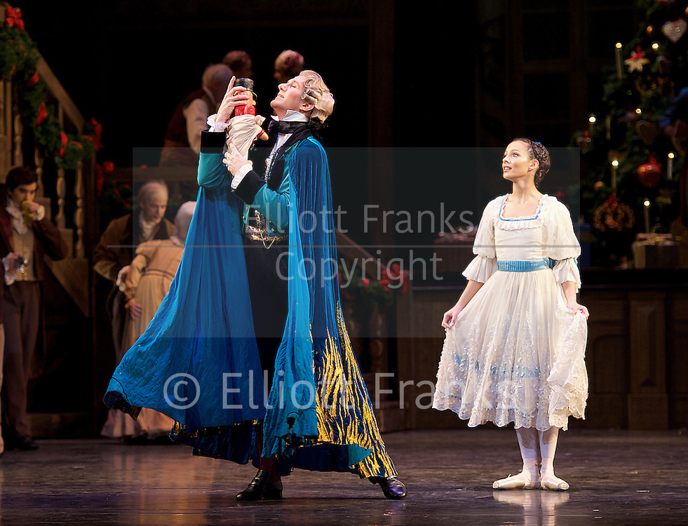 The Nutcracker<br /> <br /> Choreography by Peter Wright after Lev Ivanov<br /> Music by Tchaikovsky<br /> <br /> The Royal Ballet at the Royal Opera House, Covent Garden, London, Great Britain <br /> <br /> Pre-General Rehearsal <br /> <br /> 7 December 2015 <br /> <br />                 <br /> <br /> Francesca Hayward as Clara  <br /> <br /> <br /> <br /> Gary Avis as Drosslemeyer  <br /> <br /> <br /> <br /> <br /> Photograph by Elliott Franks <br /> Image licensed to Elliott Franks Photography Services
