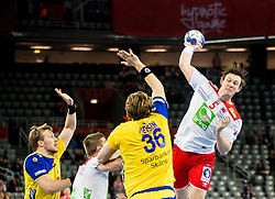 Sander Sagosen of Norway during handball match between National teams of Sweden and Norway on Day 7 in Main Round of Men's EHF EURO 2018, on January 24, 2018 in Arena Zagreb, Zagreb, Croatia.  Photo by Vid Ponikvar / Sportida