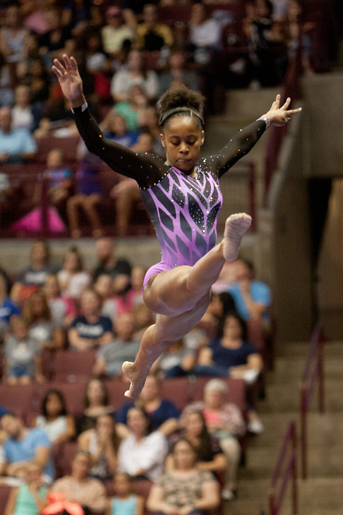 USA Gymnastics GK Classic - Schottenstein Center, Columbus, OH - July 28th, 2018. Shilese Jones competes on the beam  at the Schottenstein Center in Columbus, OH; in the USA Gymnastics GK Classic in the senior division. Simone Biles won the allround with Riley McCusker second and Morgan Hurd third. - Photo by Wally Nell/ZUMA Press