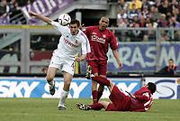 Livorno 17-4-05<br />Livorno Fiorentina Campionato serie A 2004-05<br />nella  foto Giorgio Chiellini in azione<br />Foto Snapshot / Graffiti