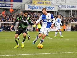 Joe Partington of Bristol Rovers is challenged by Niall Mason of Doncaster Rovers - Mandatory by-line: Neil Brookman/JMP - 23/12/2017 - FOOTBALL - Memorial Stadium - Bristol, England - Bristol Rovers v Doncaster Rovers - Sky Bet League One