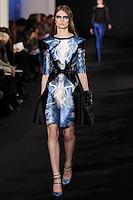 Lara Mullen walks down runway for F2012 Prabal Gurung's collection in Mercedes Benz fashion week in New York on Feb 10, 2012 NYC