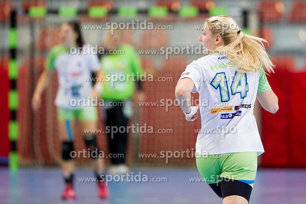 Tamara Mavsar of Slovenia during handball match between Women National Teams of Slovenia and Montenegro in 2016 Women's European Championship Qualification, on October 11, 2015 in Arena Kodeljevo, Ljubljana, Slovenia. Photo by Urban Urbanc / Sportida