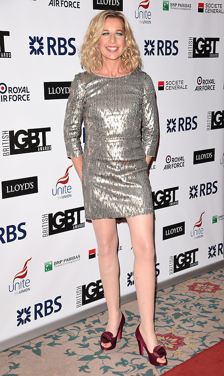 Katie Hopkins attends The British LGBT Awards at The Landmark Hotel, London on Friday 24 April 2015