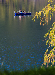 THEMENBILD - Angler mit ihrem Boot beim fischen, aufgenommen am 30. April 2016, am Zeller See, Zell am See, Oesterreich // mens fishes on their boat on the Lake Zell, Zell am See, Austria on 2016/04/30. EXPA Pictures © 2016, PhotoCredit: EXPA/ JFK