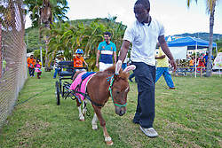 "Raj Mirpuri gets a ride from  ""Chavo"" led by Abraham Connors as Dad, Amit, looks on.  Easter Sunday Extravaganza at Crown Bay Center.  St. Thomas, VI.  5 April 2015.  © Aisha-Zakiya Boyd"