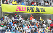 Jan 27, 2019; Orlando, FL, USA; Fans bear the rain and unusually cold temperatures during the NFL Pro Bowl football game at Camping World Stadium.  The AFC beat the NFC 26-7. (Steve Jacobson/Image of Sport)