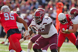 NORMAL, IL - October 13: Lucas Davis during a college football game between the ISU (Illinois State University) Redbirds and the Southern Illinois Salukis on October 13 2018 at Hancock Stadium in Normal, IL. (Photo by Alan Look)