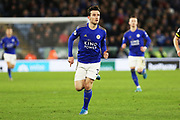 Ben Chilwell in action during the Premier League match between Leicester City and Southampton at the King Power Stadium, Leicester, England on 11 January 2020.