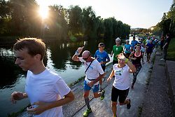 Runners at Adidas Bridge Run across river Ljubljanica, on September 8, 2018 in Ljubljana, Slovenia. Photo by Urban Urbanc / Sportida