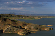 The San Carlos Lake on the San Carlos Apache Reservation in Arizona, USA. June 2004. The lake was about to dry out at the time the photograph was taken, threatening the tribal economy, since much of the tribal income derives from the sale of fishing permits.