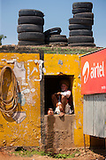 Indian man running a business at Ganesh Dham in Sawai Madhopur district in Rajasthan, India