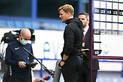 Relegated Bournemouth Manager Eddie Howe facing the cameras after during the Premier League match between Everton and Bournemouth at Goodison Park, Liverpool, England on 26 July 2020.