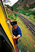 PERU, MACHU PICCHU, TRAIN one of the world's most famous train rides  thru the Inca Sacred Valley from Cuzco to  Machu Picchu