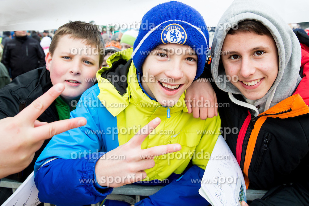 Supporters after the Final Round at Day 1 of World Cup Ski Jumping Ladies Ljubno 2015, on February 14, 2015 in Ljubno, Slovenia. Photo by Vid Ponikvar / Sportida