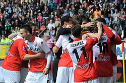 16-05-2010 VOETBAL: FC UTRECHT - RODA JC: UTRECHT<br /> FC Utrecht verslaat Roda in de finale van de Play-offs met 4-1 en gaat Europa in / Jacob Lenski, Michel Vorm, Ricky van Wolfswinkel, Tim Cornelisse, Jacob Mulenga, Dries Mertens<br /> ©2010-WWW.FOTOHOOGENDOORN.NL