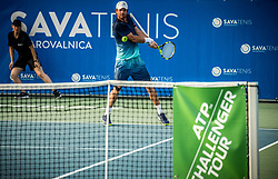 Blaz Kavcic (SLO) plays against Aldin Setkic (BIH) at ATP Challenger Zavarovalnica Sava Slovenia Open 2017, on August 9, 2017 in Sports centre, Portoroz/Portorose, Slovenia. Photo by Vid Ponikvar / Sportida
