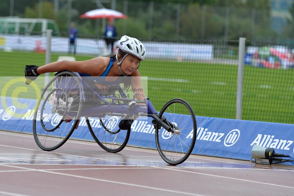 06/08/2017; Dederick, Hannah, T54, USA at 2017 World Para Athletics Junior Championships, Nottwil, Switzerland