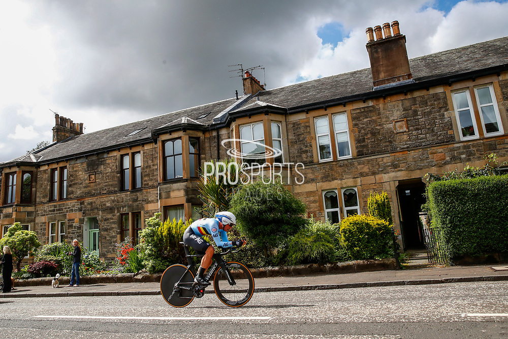 Time Trial Men 45,7 km, Yves Lampaert (Belgium) during the Road Cycling European Championships Glasgow 2018, in Glasgow City Centre and metropolitan areas Great Britain, Day 7, on August 8, 2018 - photo Luca Bettini / BettiniPhoto / ProSportsImages / DPPI<br /> - restriction - Netherlands out, Belgium out, Spain out, Italy out