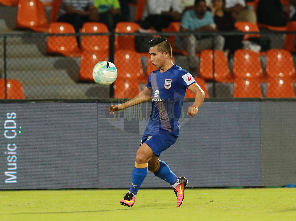 Lalhmangaihsanga of Mumbai City FC in action during match 7 of the Indian Super League (ISL) season 3 between Mumbai City FC and NorthEast United FC held at the Mumbai Football Arena in Mumbai, India on the 7th October 2016.<br /> <br /> Photo by Vipin Pawar / ISL/ SPORTZPICS