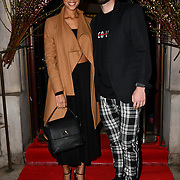 Natalie Brown, Henri Lansbury attend Travel bag brand hosts the launch of its exclusive luxury collection of handbags in collaboration with model and designer Anastasiia Masiutkina  D'Ambrosio on 26 March 2019, Caviar House & Prunier 161 Piccadilly, London, UK.