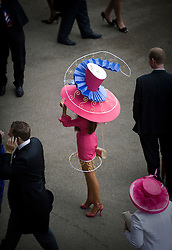 © licensed to London News Pictures.16/06/2011. Ascot, UK.  Hat designer Tracy Rose at Ladies day at Royal Ascot races today (16/06/2011). The 5 day showcase event is one of the highlights of the racing calendar. Horse racing has been held at the famous Berkshire course since 1711 and tradition is a hallmark of the meeting. Top hats and tails remain compulsory in parts of the course. Photo credit should read: Ben Cawthra/LNP