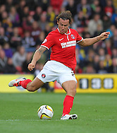 Picture by David Horn/Focus Images Ltd +44 7545 970036<br /> 14/09/2013<br /> Lawrie Wilson of Charlton Athletic during the Sky Bet Championship match at Vicarage Road, Watford.
