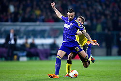 Amir Dervisevic #21 of Maribor during football match between NK Maribor and Sevilla FC (ESP) in 1st Leg of Round of 32 of UEFA Europa League 2014 on February 20, 2014 at Stadium Ljudski vrt, Maribor, Slovenia. Photo by Matic Klansek Velej / Sportida